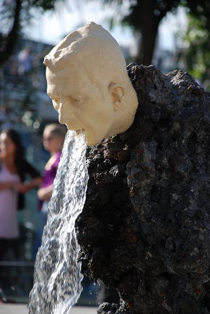 Vomiting Fountain Sculpture, London, UK